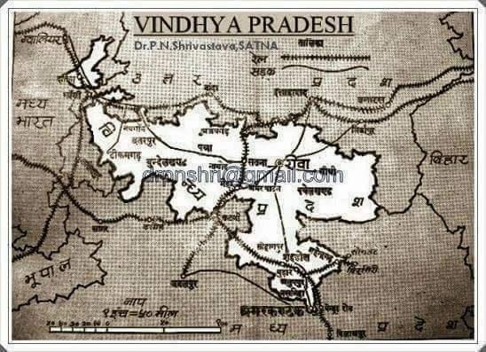 Map of vindhy pradesh